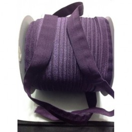ER002: SHADOW PURPLE: FOE Fold Over Elastic Ribbon DIY Stretch Baby Headband 15mm, 5 meter