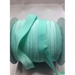 ER006: AQUA: FOE Fold Over Elastic Ribbon DIY Stretch Baby Headband 15mm, 5 meter