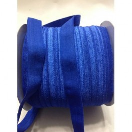 ER017: COBALT: FOE Fold Over Elastic Ribbon DIY Stretch Baby Headband Hair Tie Accessories Webbing 15mm, 5 meter