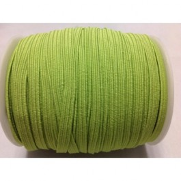 ER040: LIME GREEN: 6mm Skinny Elastic, 5 meter