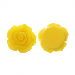 B38999: Resin Flower Yellow 20x20mm, 50 pieces [ C14 ]