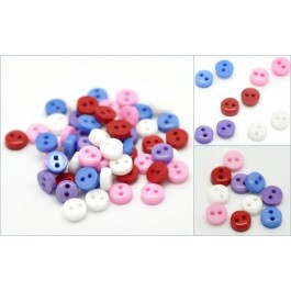 B18988B: Mixed Round Buttons 6mm - 20 pieces