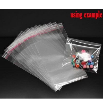 B13280: Clear Self Adhesive Seal Plastic Bags 11x6cm, 200 pieces [ O/S ]
