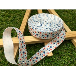 ER084: MIX STAR: FOE Fold Over Elastic Ribbon DIY Stretch Baby Headband Hair Tie Accessories Webbing 15mm, 5 meter