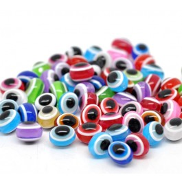 B13674: Evil Eye Stripe Resin 10mm, 200 pieces [ B14 ]