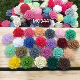MC344: Roses Resin Cabochons 18~20x9mm, 50 pieces [ C16 ]