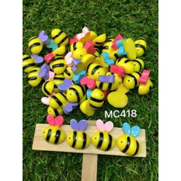 MC418: Bee Resin 20x17mm, 20 pieces [ A22 ]