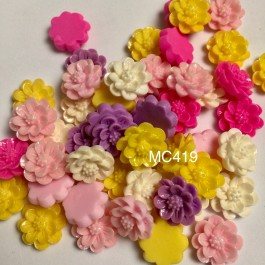 MC419: Flower Resin 15mm, 50 pieces/pack [ C18 ]