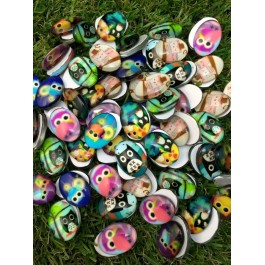 MC450: Cartoon Owl Oval Cabochons 18mm, 20 pieces/pack [ A9 ]