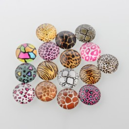 MC481: 20 pieces 20mm diameter Animal Skin Glass Cabochons Half Round / Dome DIY Jewelry making Craft [ B18 ]