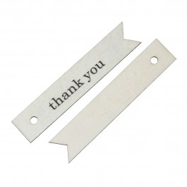 "B52204: 10 Pieces 6.6x1.3cm Wood Charm Pendants Rectangle Natural ""Thank You"" DIY Craft Scrap Book Card Making [ B14 ]"