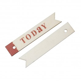 "B52202: 10 Pieces 6.6x1.3cm Wood Charm Pendants Rectangle Natural ""TODAY"" DIY Craft Scrap Book Card Making [ A19 ]"