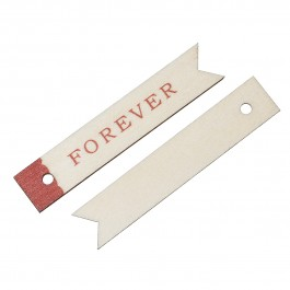 "B52203: 10 Pieces 6.6x1.3cm Wood Charm Pendants Rectangle Natural ""FOREVER"" DIY Craft Scrap Book Card Making [ A19 ]"
