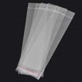 B31368: Plastic Self Adhesive W/Hang Hole 26x7cm, 100 pieces [ O/S ]