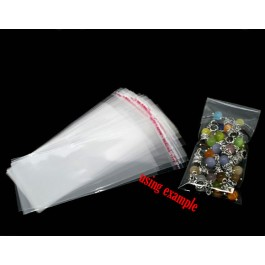 B07379: Clear Self Adhesive Plastic Bags 14x5cm, 200 pieces [ C19 ]