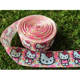 RB002: Kitty Grosgrain Ribbon 22mm, 5meter
