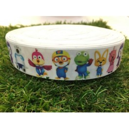 RB015: Pororo Grograin Ribbon 25mm, 5meter/pack
