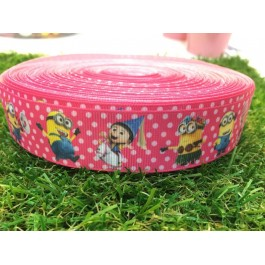 RB017: Minion T1 Grograin Ribbon 25mm, 5meter