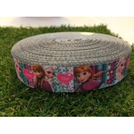 RB018: Frozen Grograin Ribbon 25mm, 5meter