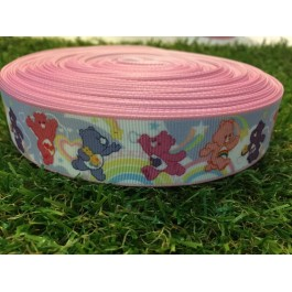 RB025: Care Bear Grograin Ribbon 25mm, 5 meter
