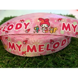 RB048: Melody Grograin Ribbon 25mm 5meter