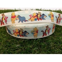 RB055: Pooh T2 Grograin Ribbon 25mm 5meter