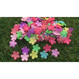 MC527: Acrylic Flower Cabochons 17.5mm, 100 pieces/pack [ A19 ]