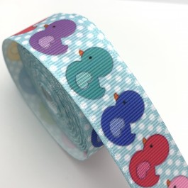 RB060: Cute Kawaii Duck 5 meter 22mm Printed Grosgrain Ribbon DIY Craft Hair Bow knot Accessory Reben