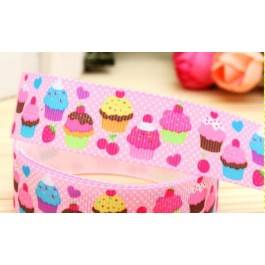 RB063: Cupcake Grosgrain Ribbon 22mm 5meter