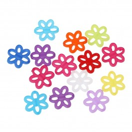 B48030: Acrylic Flower Hollow 24x22mm, 100 pieces [ A3 ]