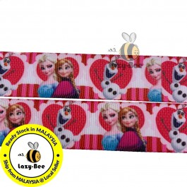 RB065: Frozen Grosgrain Ribbon 22mm, 5Meter