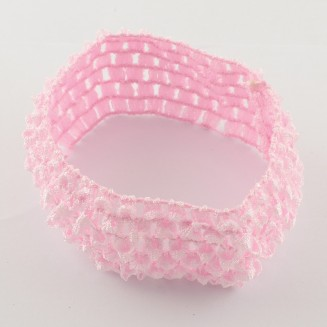 HA001: PINK Nylon Wide Headbands 13-14cm, 4 pieces