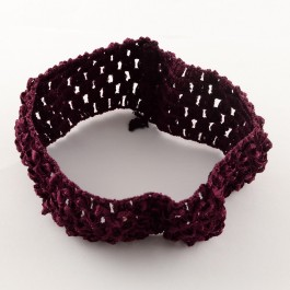 HA014: Wine Nylon Wide Headbands 13-14cm, 4 pieces