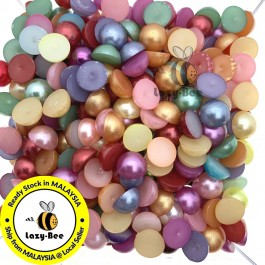 MC592: Mixed Acrylic Pearl 8mm, 200 pieces [ C19 ]