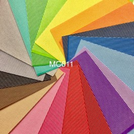 MC611: 20 Colour Stripe 1mm Felt, 30x30cm