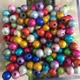 B15086: Acrylic Round Spacer Beads 8mm, 50 pieces [ B1 ]