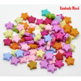B19424: Mixed Star Acrylic Spacer Beads 9x9mm, 100 pieces [ B14 ]