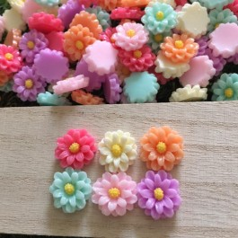 SA045: Flower Resin 14mm, 50 pieces/pack [ B16 ]