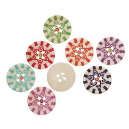 B66894: Wood Buttons Round 20mm, 50 pieces [ C17 ]