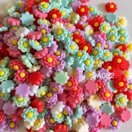 SA082: Daisy Resin 13mm, 50 pieces/pack [ C13 ]