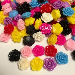 SA087: Resin flower 15mm, 50 pieces/pack [ C13 ]
