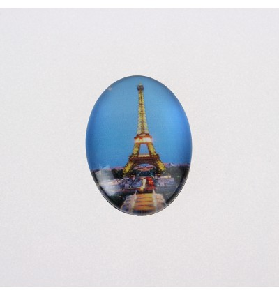 MC654: 20 pieces 18x13mm European Oval Printed Glass Cabochons DIY Jewelry Making accessory time gem glass [ B4 ]