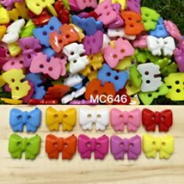 MC646: Bowknot Button 14x10mm, 100 pieces/pack [ B18 ]