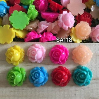 SA118: Flower Opaque Resin 15mm, 50 pieces/pack [ A23 ]