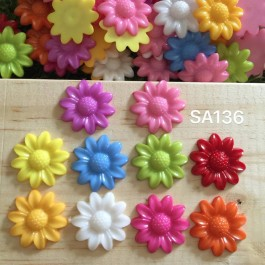 SA136: Acrylic flower 20mm, 50 pieces/pack [ A9 ]