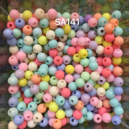 SA141: Round Beads 6mm, 50gms (approx 500 pieces) [ B15 ]