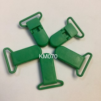 KM070: FERN GREEN: Baby Pacifier Clip, 5 pieces/pack