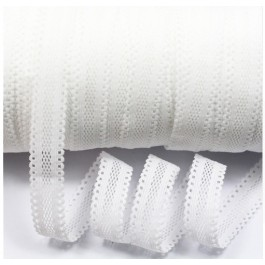 ER152: WHITE 029: 16mm Hollow Elastic Ribbon Sewing Elastic Band Clothing Webbing, 5meter