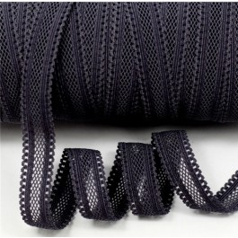ER153: BLACK 030: 16mm Hollow Elastic Ribbon Sewing Elastic Band Clothing Webbing, 5 meter