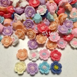 SA146: Flower Resin 14mm, 50 pieces [ C13 ]